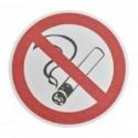 Знак курить запрещено - Противоскользящий напольный знак, круг с диаметром 400 мм