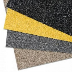 Противоскользящая пластина, 750х1000х4,2 мм, размер абразива 12 Grit, черный цвет