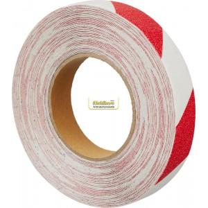 Предупреждают о постоянных, периодических и очень опасных зонах, красно-белый цвет (предупреждающий тип ленты)