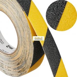 Предупреждают о постоянных, периодических и очень опасных зонах, желто-черный цвет (предупреждающий тип ленты)