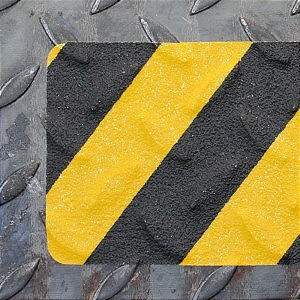 Полосы, 10 штук в упаковке, для неровных, профилированных и грубых поверхностей, желто-черный цвет (формуемый тип ленты)