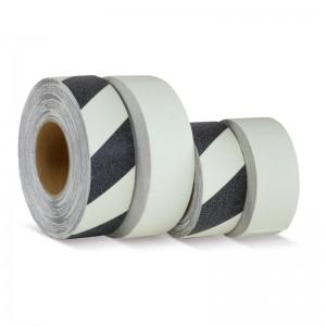 Белый с черными полосами цвет, полоса, 10 шт в упаковке, фотолюминесцентная противоскользящая лента