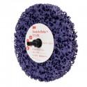3M™ Scotch-Brite™ Roloc™ + Clean and Strip XT-ZR 05814 Круг, S XCS, фиолетовый,  100 мм х 13 мм