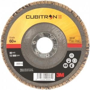 3M™ Cubitron™ II 969F 51469 Круг Шлифовальный Лепестковый Торцевой Конический, 60+, 125 мм
