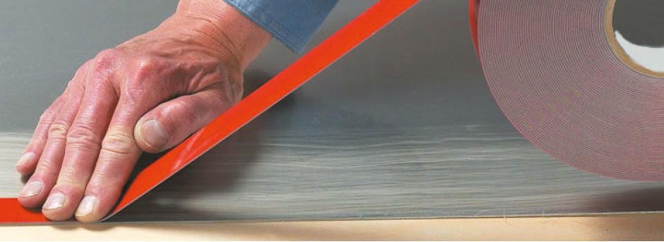 Как правильно нанести клейкую ленту