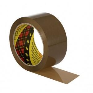 3M™ Scotch® 371 Упаковочная Клейкая Лента, коричневая, 50 мм x 66 м