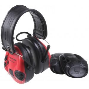 3M™ PELTOR™ SportTac MT16H210F-478-RD Наушники противошумные, 2 цвета чашек: красный и черный, 26 дБ