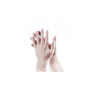 Перчатки одноразовые виниловые прозрачные LOKS®