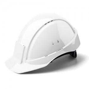 3M™ G2001DUV-VI Каска защитная белая, без вентиляции, с кожаным оголовьем