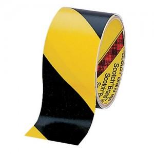3M™ 5702 Лента на Виниловой Основе, для разметки, чёрно-жёлтая, 51 мм х 32,9 м