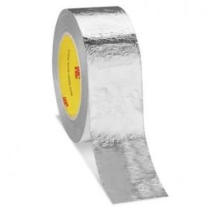 3M™ 363 Термостойкая Лента на Основе Алюминиевой Фольги и Стеклоткани, серебряная, 50 мм х 33 м