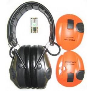 3M™ PELTOR™ SportTac MT16H210F-478-GN Наушники противошумные, стандартное оголовье, 2 цвета чашек: зеленый и оранжевый, 26 дБ