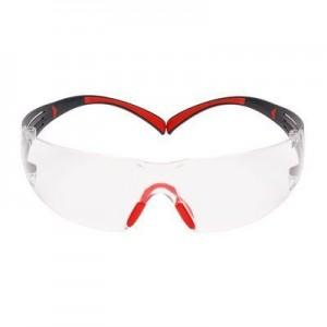 3M™ SecureFit™ SF400 SF401SGAF-RED-EU Очки Открытые защитные из поликарбоната, с покрытием Scotchgard™, цвет линз прозрачный