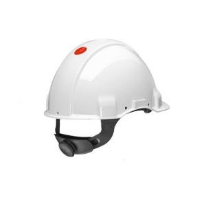 3M™ G3001NUV-VI Каска защитная белая, без вентиляции, с храповиком, с УФ-индикатором