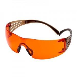 3M™ SecureFit™ SF400 SF406SGAF-BLA Очки Открытые защитные из поликарбоната, с покрытием Scotchgard™, цвет линз оранжевый