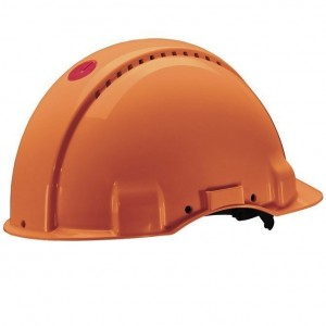 3M™ G3000CUV-OR Каска защитная оранжевая, c вентиляцией, с УФ-индикатором