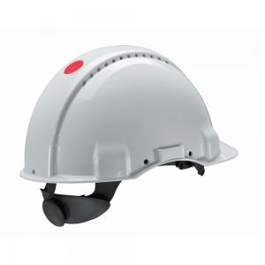 3M™ G3000NUV-VI Каска защитная белая, с вентиляцией, с храповиком, с УФ-индикатором