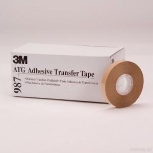 3M™ Scotch® ATG 987 Лента Двусторонняя Безосновная , прозрачная, 6мм х 32,9м